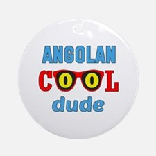 Angolan Cool Dude Round Ornament