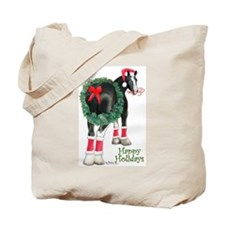 Christmas Shire Draft Horse Tote Bag
