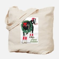 Christmas Shire Draft Horse Tote Bag