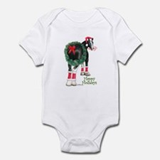 Christmas Shire Draft Horse Infant Bodysuit
