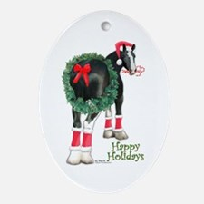 Christmas Shire Draft Horse Oval Ornament
