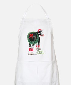 Christmas Shire Draft Horse BBQ Apron