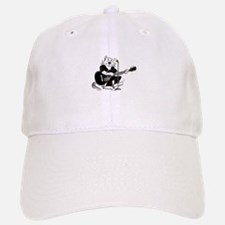 Accoustic Guitar Cat Baseball Baseball Cap