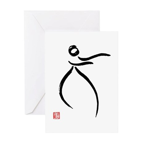 Tai Chi Raise Hands - Greeting Card