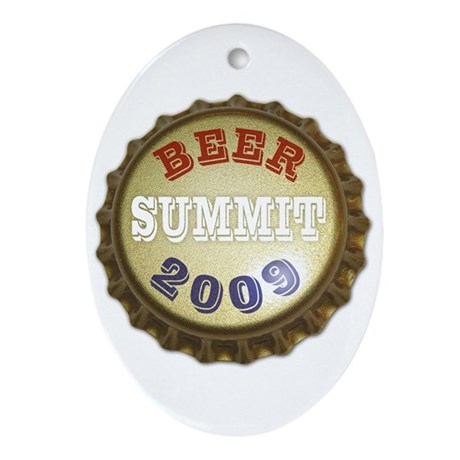 Beer Summit - Oval Ornament