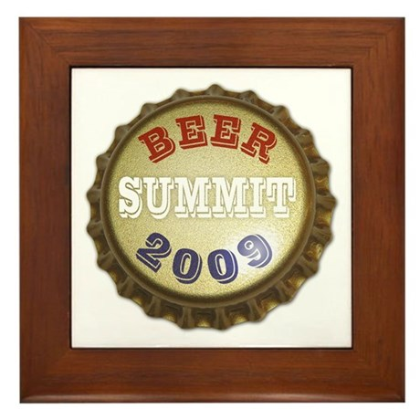Beer Summit - Framed Tile