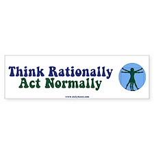 Think Rationally Retro Bumper Bumper Sticker