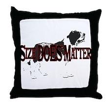 St. Bernard- Size Does Matter Throw Pillow