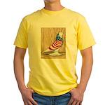 Patriotic West Pigeon2 Yellow T-Shirt