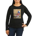 Patriotic West Pigeon2 Women's Long Sleeve Dark T-