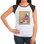 Patriotic West Pigeon2 Women's Cap Sleeve T-Shirt