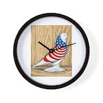 Patriotic West Pigeon2 Wall Clock