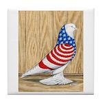 Patriotic West Pigeon2 Tile Coaster