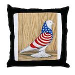 Patriotic West Pigeon2 Throw Pillow