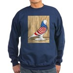 Patriotic West Pigeon2 Sweatshirt (dark)
