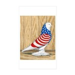Patriotic West Pigeon2 Rectangle Sticker 10 pk)