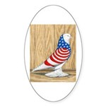 Patriotic West Pigeon2 Oval Sticker (50 pk)