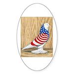 Patriotic West Pigeon2 Oval Sticker (10 pk)