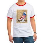 Patriotic West Pigeon2 Ringer T