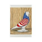 Patriotic West Pigeon2 Rectangle Magnet (100 pack)
