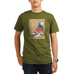 Patriotic West Pigeon2 Organic Men's T-Shirt (dark