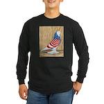 Patriotic West Pigeon2 Long Sleeve Dark T-Shirt