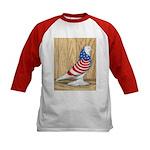 Patriotic West Pigeon2 Kids Baseball Jersey