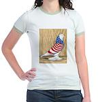 Patriotic West Pigeon2 Jr. Ringer T-Shirt