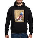 Patriotic West Pigeon2 Hoodie (dark)