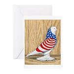 Patriotic West Pigeon2 Greeting Cards (Pk of 20)