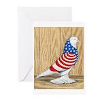 Patriotic West Pigeon2 Greeting Cards (Pk of 10)