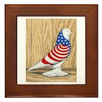Patriotic West Pigeon2 Framed Tile