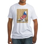 Patriotic West Pigeon2 Fitted T-Shirt