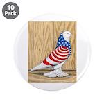 "Patriotic West Pigeon2 3.5"" Button (10 pack)"