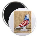 """Patriotic West Pigeon2 2.25"""" Magnet (10 pack)"""