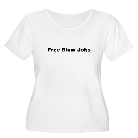 Free Blow Jobs Women's Plus Size Scoop Neck T-Shir