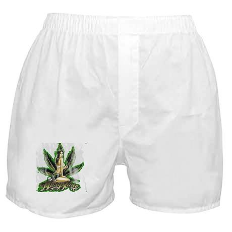 Mary Jane Marijuana Cannabis Boxer Shorts