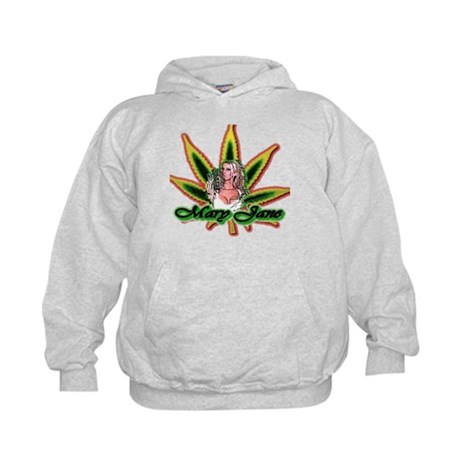 Mary Jane Marijuana Cannabis Kids Hoodie