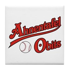 Ahnentafel Obits Tile Coaster