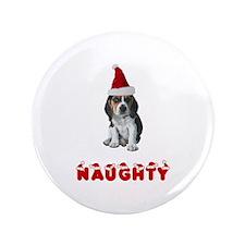 "Naughty Beagle 3.5"" Button"