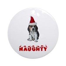 Naughty Beagle Ornament (Round)