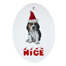 Nice Beagle Oval Ornament