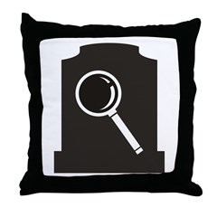 Grave Finder Throw Pillow