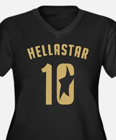 HellaStar 2010 Women's Plus Size V-Neck Dark T-Shi