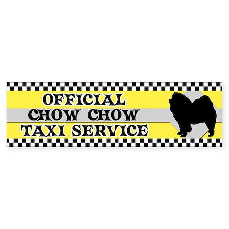 Official Chow Chow Taxi Bumper Sticker