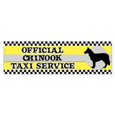 Official Chinook Taxi Bumper Car Sticker