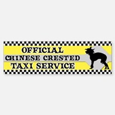 Official Chinese Crested Taxi Bumper Bumper Bumper Sticker