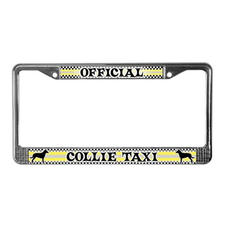 Official Smooth Collie Taxi License Plate Frame