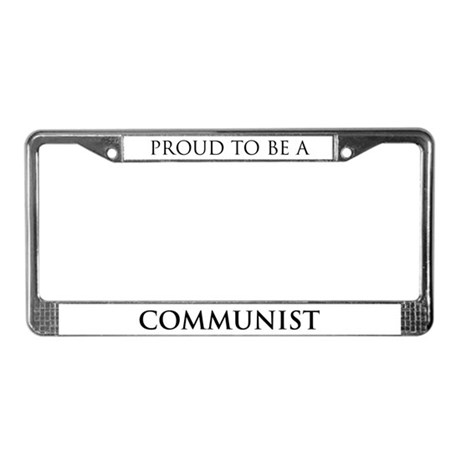 Proud Communist License Plate Frame