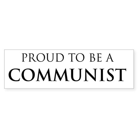 Proud Communist Bumper Sticker